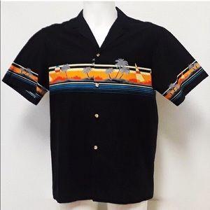 VTG Mark Raysten 70's Sunset Waves Hawaiian Shirt
